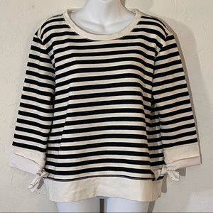 Gibson striped sweatshirt with bow tie sleeves